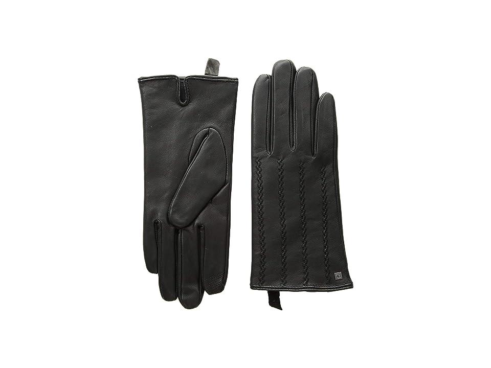 LAUREN Ralph Lauren Modern Hand Crafted Points Touch Gloves (Black) Extreme Cold Weather Gloves