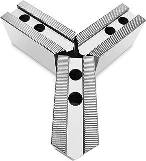 Lathe Chuck Serrated (1.5 mm x 60) Aluminum Soft Jaws Set (3 Pcs) for 10