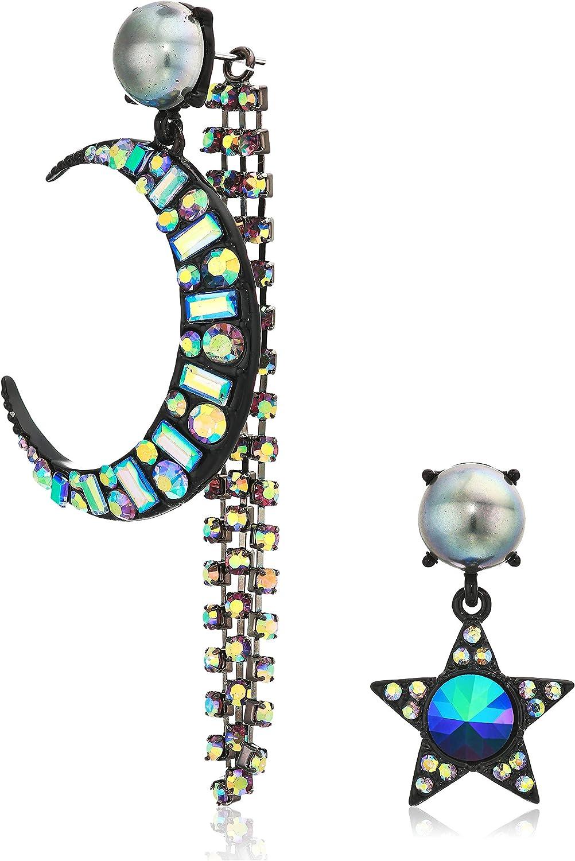 Betsey Johnson Moon  Star Mismatched Earrings
