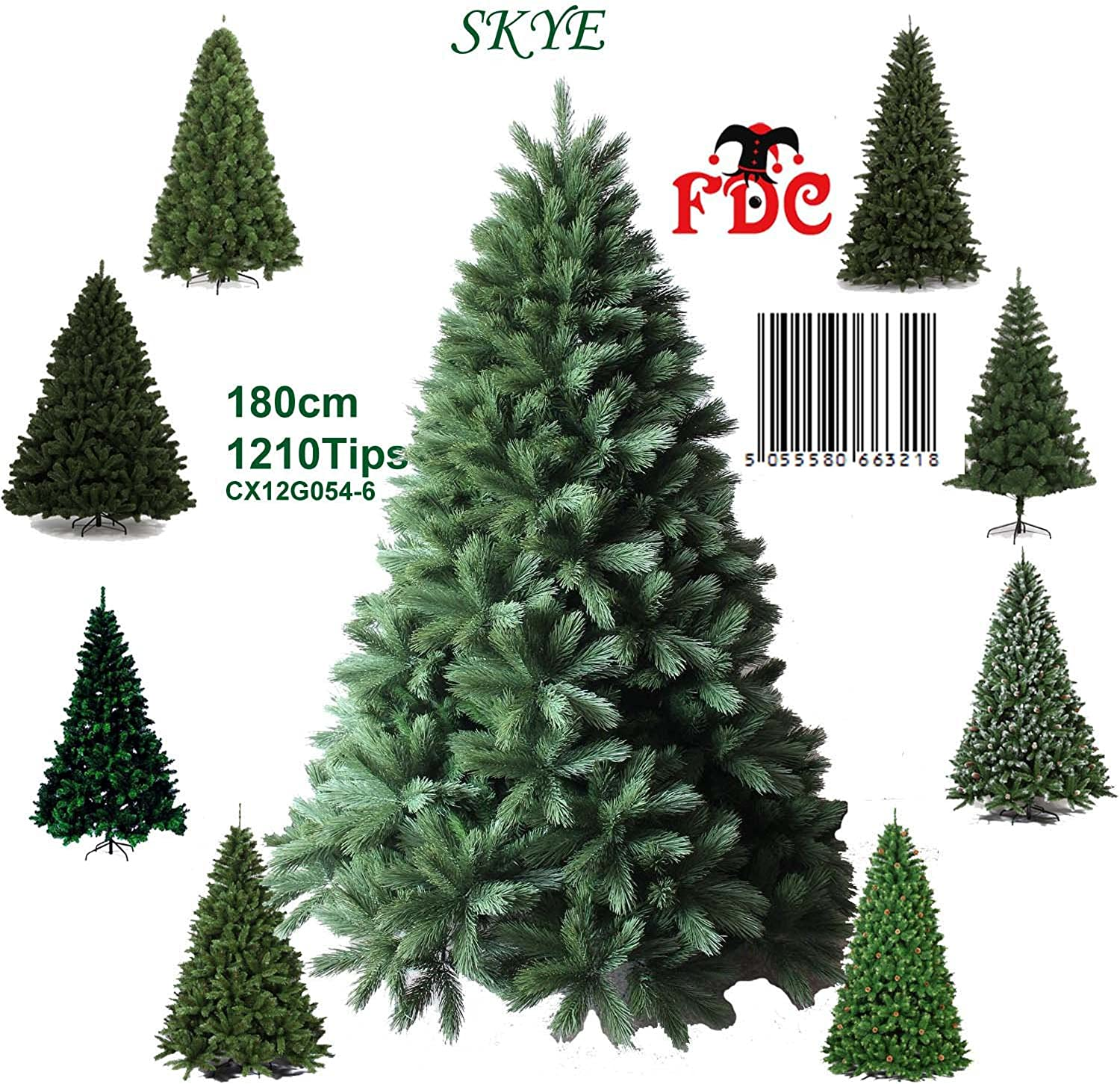 Luxury Green Artificial Christmas Tree Skye 1.8m