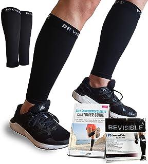 BeVisible Sports Calf Compression Sleeve – Shin Splint Leg Compression Socks for..