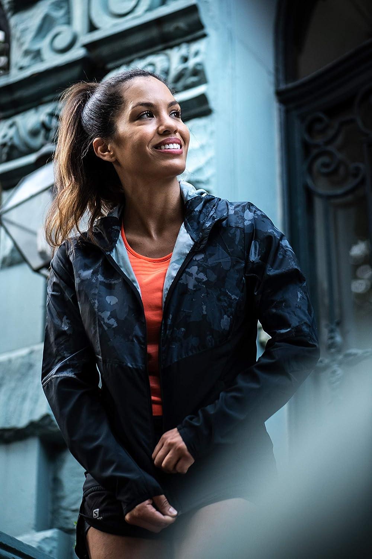 SALOMON Agile Fz Hoodie Sweat-Shirt pour Femme Noir/Noir Ébène