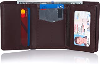 RFID Mens Wallet Deluxe Capacity Trifold With Divided Bill Section