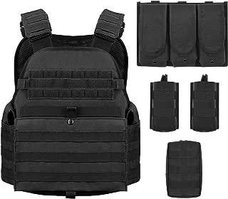 Barbarians MOLLE Tactical Vest, Outdoor Combat Training Vest Adjustable & Lightweight