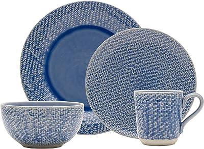 Mikasa Bethany 16-Piece Dinnerware Set, Service for 4, Blue