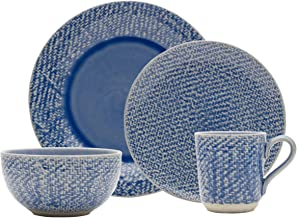 Mikasa 5225642 Bethany 16-Piece Dinnerware Set, Service for 4, Blue