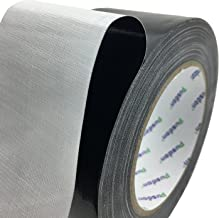 Pusdon Duct Tape, Black, 2-Inch x 30 Yards (51mm x 27.5m) Superior Single Sided Carpet Tape, Multi Use