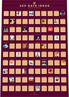 100 Dates Scratch Off Poster - 100 Afspraakjes Krasposter - Bucketlist Stelletjes - Cadeau-idee voor Valentijnsdag (42 x 5...