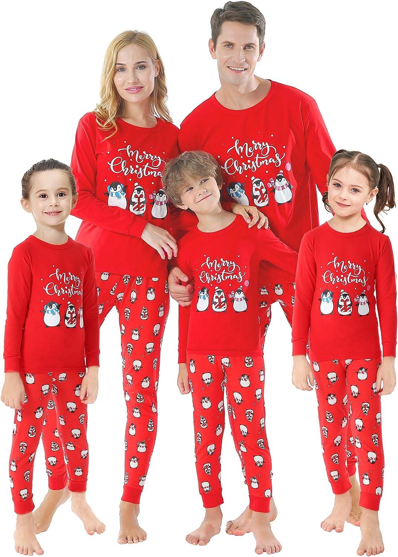 Matching Family Pajamas Christmas Tree Sleepwear Cotton Unisex PJs Pants Set