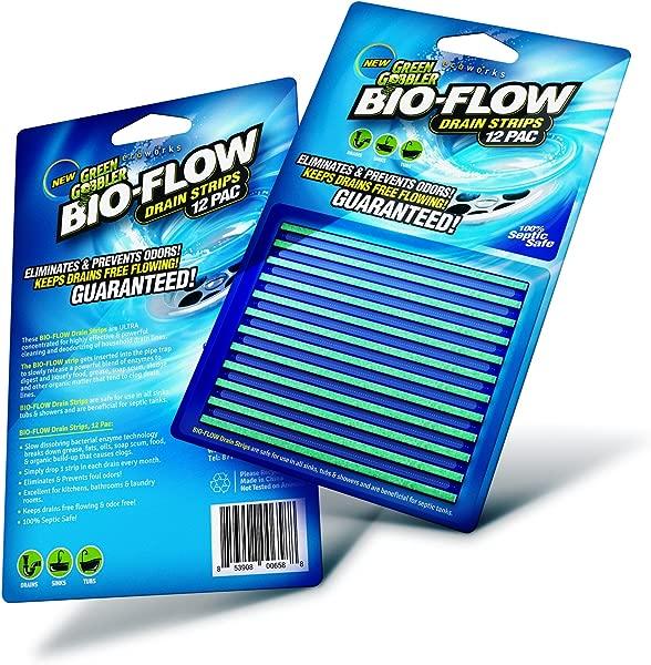 Green Gobbler SYNCHKG121210 BIO Flow Strips 12 Drain Cleaner Deodorizer 12 Pac