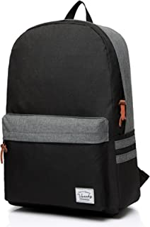 School Backpack for Boys,VASCHY Water-resistant Casual Classic Durable Laptop Backpack Daypack Bookbag for Teenagers in Black