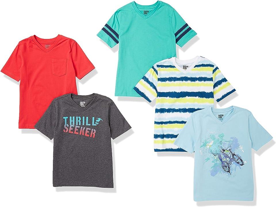 Jungen 4-Pack Short-Sleeve V-Neck T-Shirts