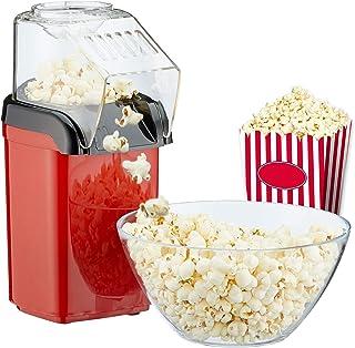 Machine à pop-corn pour la maison | préparation rapide sans graisse avec air chaud | 1200 W | avec verre doseur
