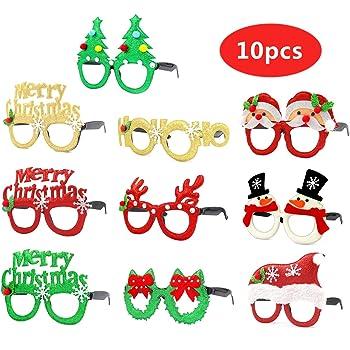 Rhode Island Novelty SG/_B01M8P37TP/_US Christmas Holiday Kids Glitter Frame Glasses 3 pack