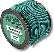 100m rubbertouw/expandertouw - groen - spankabel/rubberkoord (9mm)