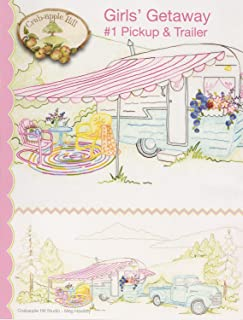 Girls' Getaway #1 Pickup & Trailer Embroidery Pattern by Meg Hawkey From Crabapple Hill Studio #2553 - 31