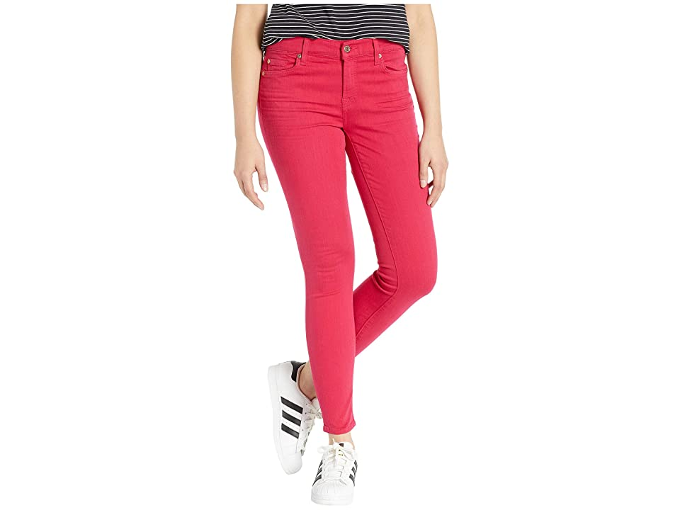 Image of 7 For All Mankind Ankle Skinny in Azalea Pink (Azalea Pink) Women's Jeans