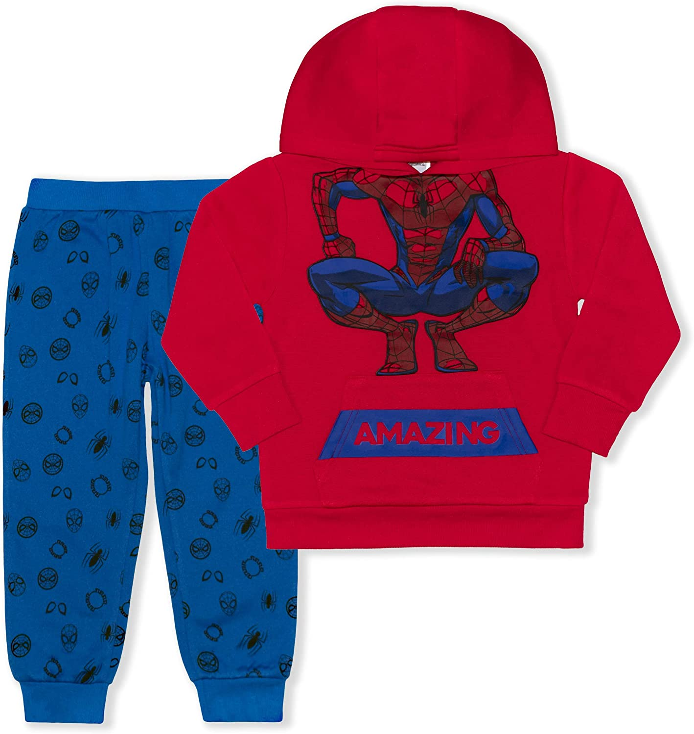 Marvel Boy's 2-Piece Spider-Man Pullover Hoodie and Jogger Pant Set