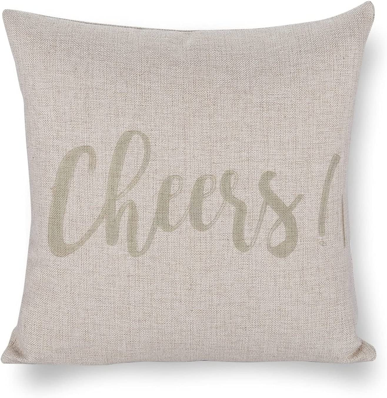 UTF4C Cheers Cotton Linen Sofa Cushion NEW Art Home Design Max 58% OFF Bed Decor