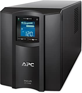 APC 1500VA Smart UPS with SmartConnect, SMC1500C Sinewave UPS Battery Backup, AVR, 120V, Line Interactive Uninterruptible ...