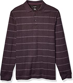 Van Heusen Men's Big & Tall Big and Tall Flex Long Sleeve Jaspe Windowpane Polo Shirt
