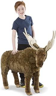 Melissa & Doug Standing Lifelike Plush Giant Moose Stuffed Animal, 38 x 41.5 x 13