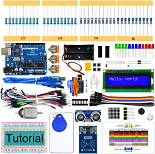 Freenove RFID Starter Kit with UNO R3 Board (Compatible with Arduino IDE), 166 Pages Detailed Tutorial, 161 Items, 30 Proj...