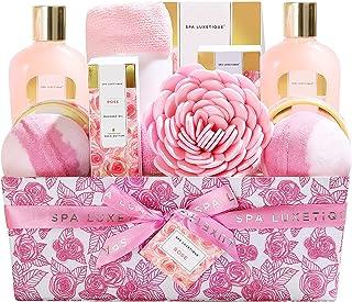 Spa Luxetique Coffret de Bain et de Soins, Parfum de Rose, 12PC Coffret Cadeau pour femme, Crème pour les Mains, Boules de...