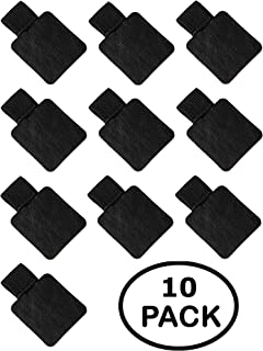 10 Pack - Black Pen Loop, Self Adhesive Pen or Pencil Holder with Elastic Loop - Designed for Journals, Notebooks, Calendars and Clipboards