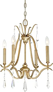 Minka Lavery 4444-582 Laurel Estate Crystal Chandelier Lighting, 4-Light 240 Watts, Brio Gold