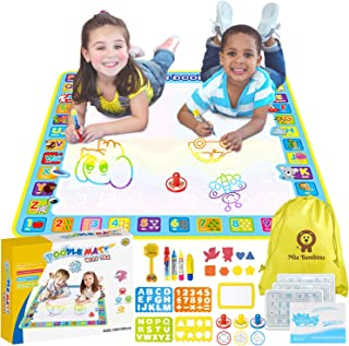 Mia Bambina Toddler Toys Childrens Water Paint Mat | Kids Learn Alphabet, Animals, Numbers, Shapes & More | Great Birthday...