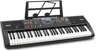Plixio 61-Key Digital Electric Piano Keyboard & Sheet Music Stand - Portable Electronic Keyboard for Beginners (Kids & Adults) (Renewed)