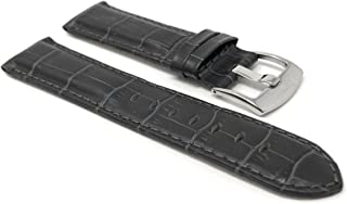 Mens Leather Watch Band Strap - Alligator Pattern - with or Without Stitch - 8 Colors - 18mm, 20mm, 22mm, 24mm, 26mm