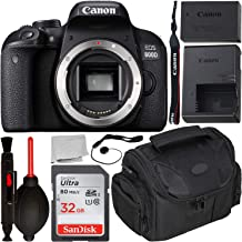 $529 Get Canon EOS 800D DSLR Camera (Body Only) with Starter Accessory Bundle – Includes: SanDisk Ultra 32GB SDHC Memory Card + Camera Carrying Case + Body Cap Keeper + Cleaning Pen + Dust Blower + More