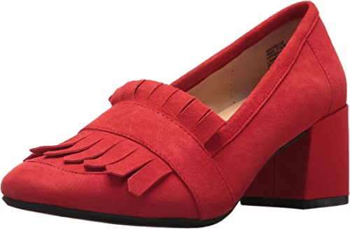 Kenneth Cole REACTION Wohommes Michelle Kilty Toe Robe Pump Suede, rouge, 8.5 Medium US