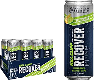 KILL CLIFF Recovery Drink, Lemon Lime, 12 Oz Cans, 12 Count - Clean Hydration, Low Cal, Electrolytes, B-Vitamins
