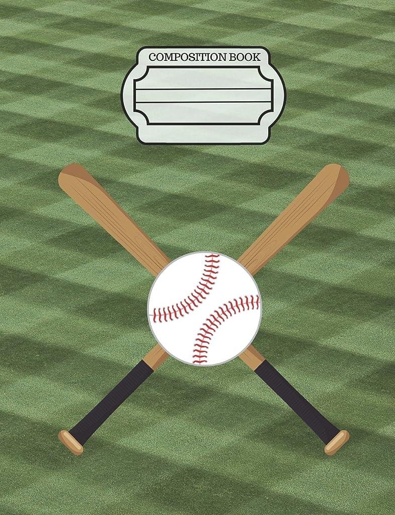 良心与えるプラスチックBaseball Player Bat Ball Composition Notebook: Sketchbook, Art Notebook Journal Paper, School Teachers, Students, 200 Blank Numbered Pages (7.44