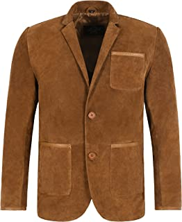 MILANO SPORTS BLAZER COAT TAN Suede Classic Tailored Soft 100% Real Suede Jacket 5831