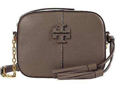 Tory Burch McGraw Camera Bag (Silver Maple) Bags