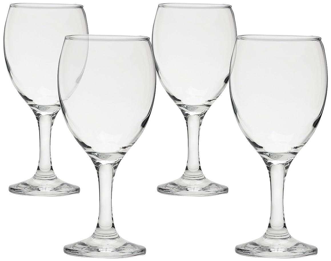 Circleware Vine Wine Glasses, Set of 4, 11 oz, Clear