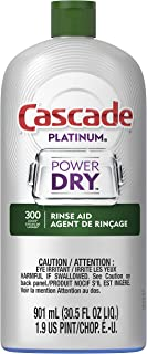 Cascade Platinum Rinse Aid, 901 mL (Packaging May Vary), Regular Scent