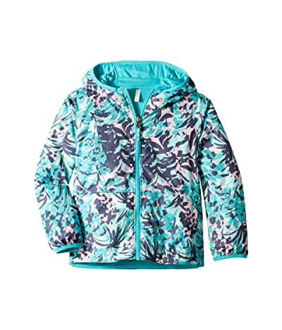 Columbia Kids Pixel Grabbertm Reversible Jacket (Little Kids/Big Kids) (Geyser/Tropical Floral/Geyser) Girl