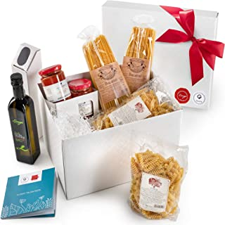 Gusta Gourmet Food Gift Basket - Made in Italy - Classic Pasta Menu - Healthy Holiday Basket for Birthdays, Family Parties, Sympathy, Housewarming, Clients and Business Gifts