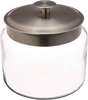 Anchor Montana Jar with Brushed Aluminum Metal Cover, 64 oz.