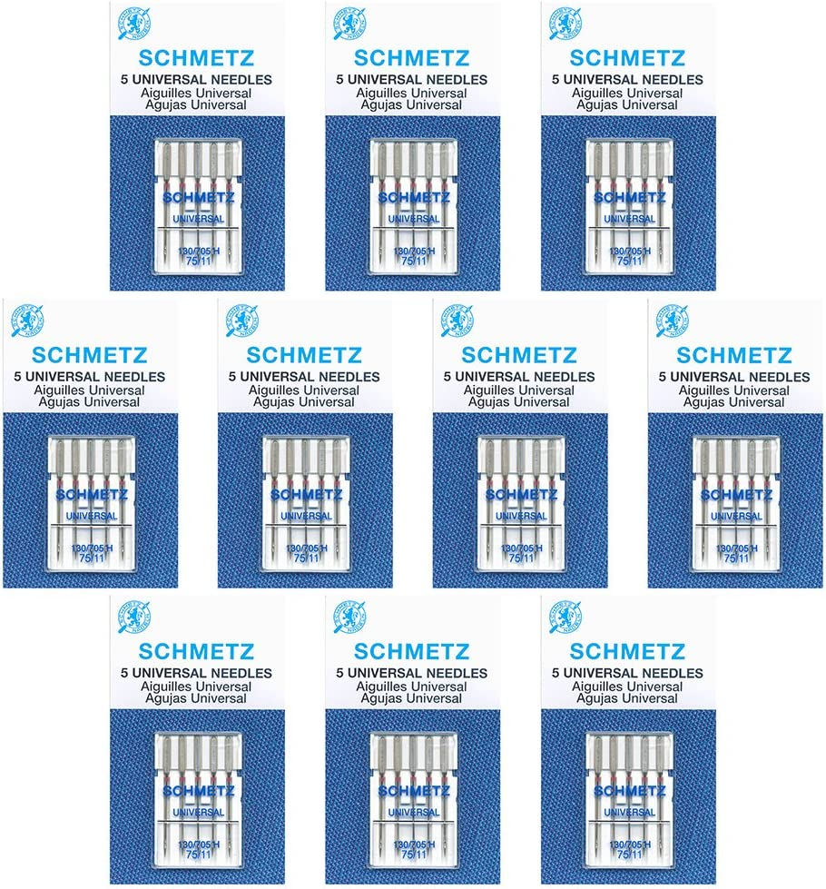 50 SchmetzUniversal Easy-to-use Sewing Wholesale Machine B Needles -75 11-