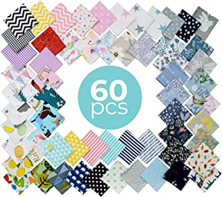 """10"""" x 10"""" Fabric Squares 100% Organic Cotton 180GSM 60 Thread Count No Repeat Patterns as Pictured"""