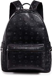 MCM Men's Stark Medium Side Stud Backpack, Black, One Size