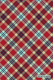 Scotland: Highlands Tartan Pattern Notebook Journal Diary for Men, Women, Teen & Kids