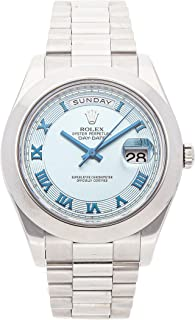 Rolex Day-Date II Mechanical (Automatic) Blue Dial Mens Watch 218206 (Certified Pre-Owned)