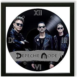 Depeche Mode Framed Décor Vinyl Painted 14x14 - Wall Art Decor Depeche Mode Electronic Band - Unique Gifts for Fans Depeche Mode - Best Gift for Electronic Music Lovers - The Best Home Decoration